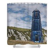 Blue Lighthouse Shower Curtain