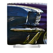 Blue Mustang Shower Curtain