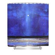 Blue Night Magic Shower Curtain