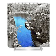 Blue River Shower Curtain