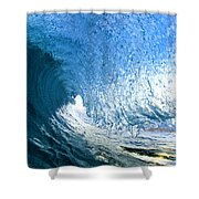 Blue Sleeve  - Triptych   Part 1of 3 Shower Curtain