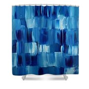 Blue Thing Shower Curtain by KR Moehr