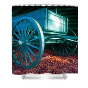 Blue Wagon Shower Curtain