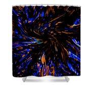 Blue Wormhole Nebula Shower Curtain