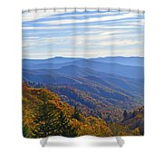 Blue Ridge Parkway View Shower Curtain