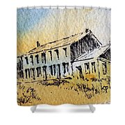 Boardinghouse Cable Ghost Town Montana Shower Curtain