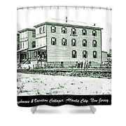 Boardinghouses And Cottages Atlantic City New Jersey C 1900 Shower Curtain