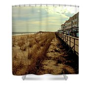 Boardwalk In Winter Shower Curtain