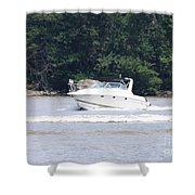 Boat On The Hudson Shower Curtain