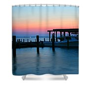 Boats At Sunset Shower Curtain