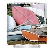 Boats Boats And More Boats Shower Curtain