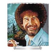 Bob Ross Shower Curtain
