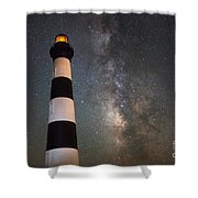 Bodie Island Lighthouse Milky Way Shower Curtain