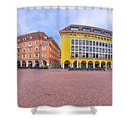 Bolzano Main Square Waltherplatz Panoramic View Shower Curtain