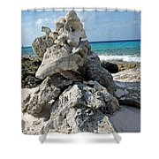 Bonaire Coral And Shells 3 Shower Curtain