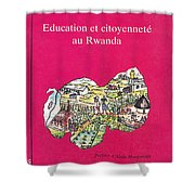 Book Cover Education Et Citoyennete Au Rwanda Shower Curtain
