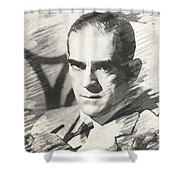 Boris Karloff, Vintage Actor Shower Curtain