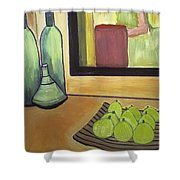 Bottles And Pears No 2 Shower Curtain