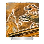 Boudicca Statue And Big Ben Shower Curtain