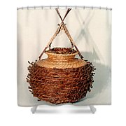 Bound And Unified In Contrast Shower Curtain