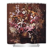 Bouquet Of Orchids Shower Curtain