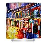 Bourbon Street Red Shower Curtain by Diane Millsap
