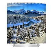 Bow Valley Winter View Shower Curtain