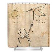 Boy With Bird Shower Curtain