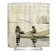 Boys Fishing Shower Curtain