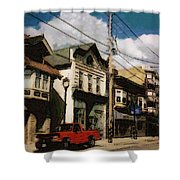 Brady Street Scene Shower Curtain