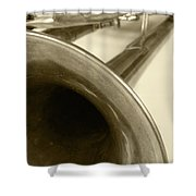 Brass Trumpet Bell And Tubing Shower Curtain