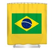 Brazil Flag Shower Curtain