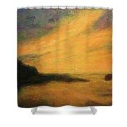 Breakwater Sunset Shower Curtain