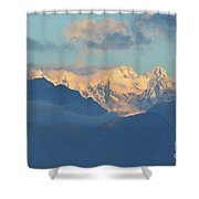 Breathtaking Landscape Of The Dolomites Mountains In Italy  Shower Curtain