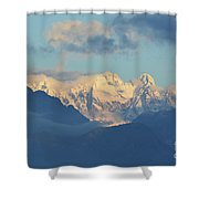 Breathtaking Scenic View Of The Alps In Italy  Shower Curtain