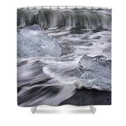 Brethamerkursandur Iceberg Beach Iceland 2588 Shower Curtain