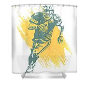 Brett Favre Green Bay Packers Water Color Art 1 Shower Curtain