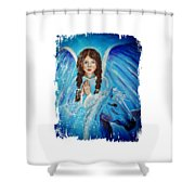 Brianna Little Angel Of Strength And Courage Shower Curtain