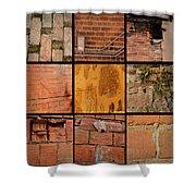 Bricks Collage  Shower Curtain