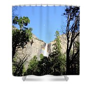 Bridal Falls Rainbow Shower Curtain