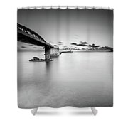 Bridge Shower Curtain by Okan YILMAZ