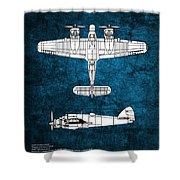 Bristol Beaufighter Shower Curtain