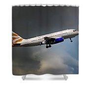 British Airways Airbus A319-131 Shower Curtain