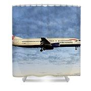 British Airways Boeing 737-436 Shower Curtain