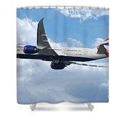 British Airways Boeing 787 Dreamliner Shower Curtain