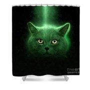 British Shorthair Cat Shower Curtain