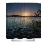 Broad Pool North Gower Shower Curtain