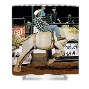 Bronc Riding Shower Curtain