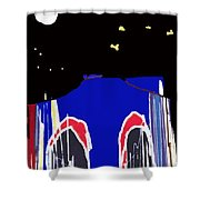 Brooklyn Bridge Blue Shower Curtain