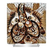 Brothers At War Shower Curtain